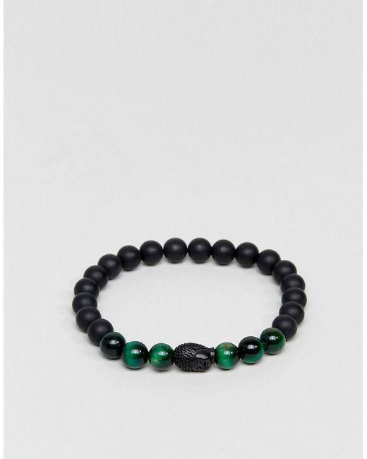 Seven London | Black Beaded Bracelet | Lyst