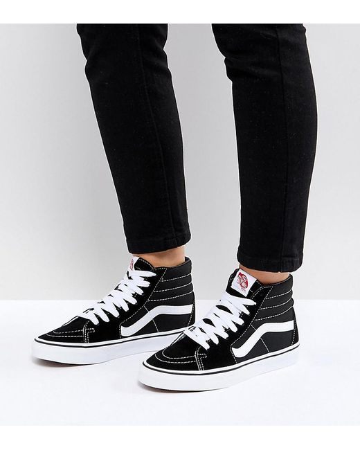 339d378892 Vans Classic Sk8 Hi Trainers In Black And White in Black - Save 41 ...