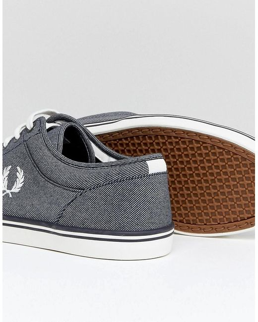buy cheap shop offer Fred Perry Stratford Printed Canvas Trainers In Blue for sale free shipping buy cheap from china sale sneakernews 1Qog6Thp
