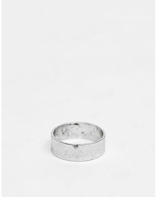 ASOS - Metallic Ring in Silber poliert for Men - Lyst