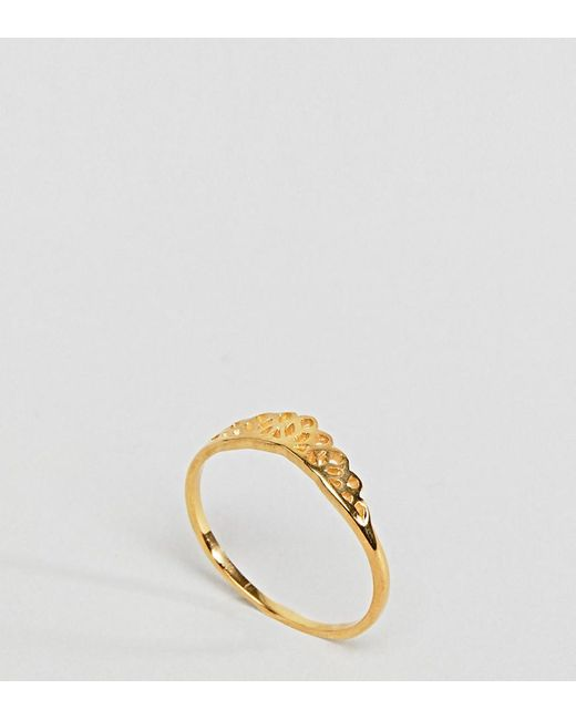 ASOS DESIGN Curve Pack Of 7 Faux Rose Quartz And Filligree Rings - Gold Asos Curve