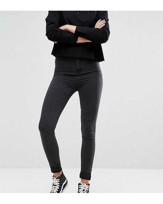 Noisy May Tall - Black Mid Rise Skinny Jean - Lyst