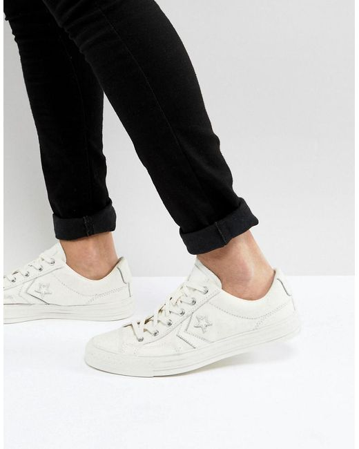 3485ae74d92783 ... inexpensive converse star player ox sneakers in white 159809c for men  lyst 449ac 6cbc0