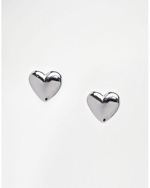 Ted Baker   Metallic Harly Tiny Heart Stud Earrings   Lyst