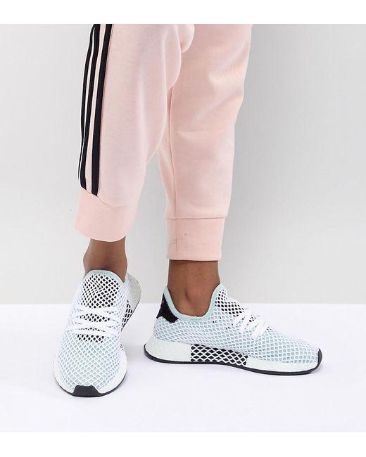 newest e9bb9 0a38b Adidas Originals - Black Deerupt Runner Sneakers In Green - Lyst ...
