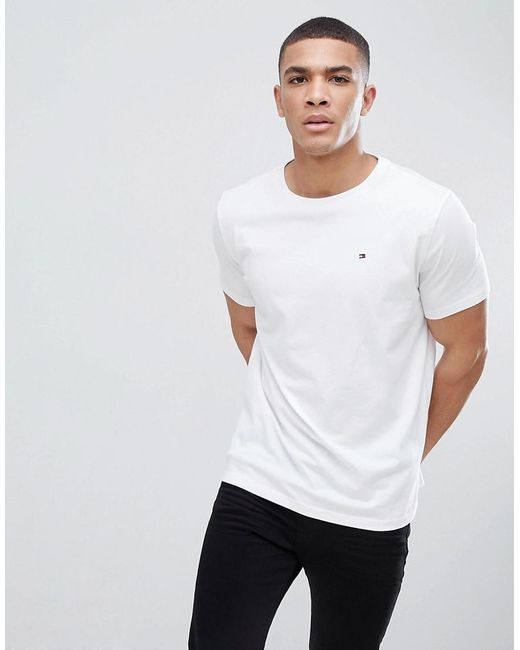 7c5b43996 Tommy Hilfiger - Flag Icon T-shirt In Organic Cotton In White for Men ...