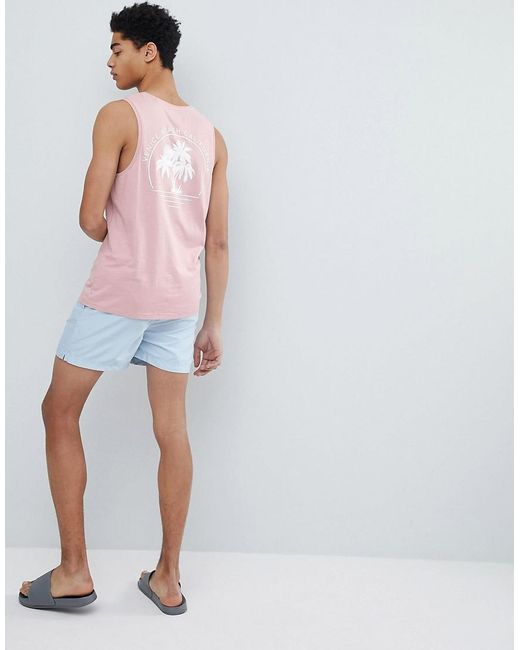 The Cheapest Cheap Online Venice Beach Print Vest - Pink Threadbare Outlet Factory Outlet Cheap Price KFWqdmMASt