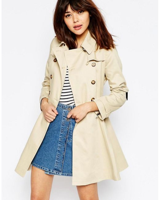 ASOS   Natural Mac With Utility Detail In Skater Fit   Lyst