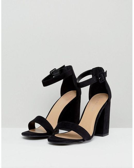 Shop Offer Online Visit New Look Leather-Look Cone Heel Sandals Buy Cheap Authentic Best Seller Online 6cRfFY