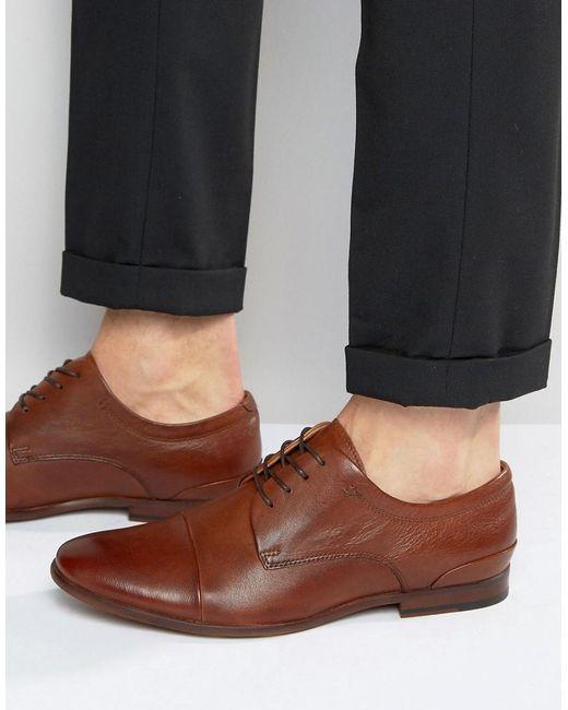 ALDO | Brown Cerneglons Leather Derby Shoes for Men | Lyst