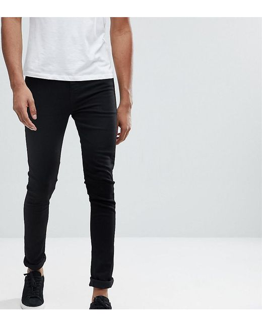 ASOS - Tall Super Spray On Jeans In Black for Men - Lyst