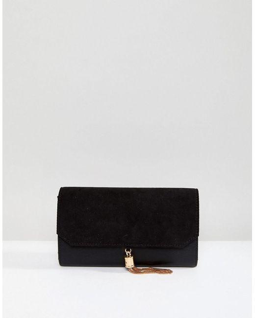 ASOS - Black Asos Tassel Envelope Purse With Suedette Flap - Lyst