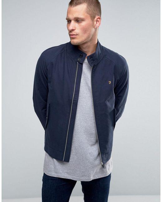 Farah Harrington Jacket In Navy Cotton In Blue For Men