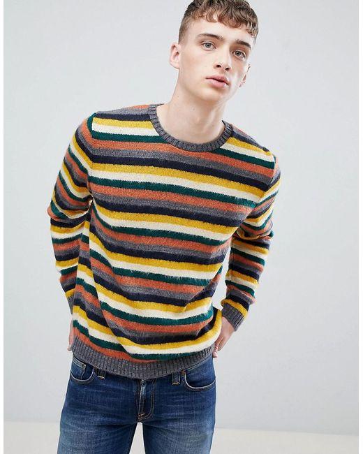 ASOS DESIGN - Multicolor Vintage Stripe In Brushed Texture for Men - Lyst