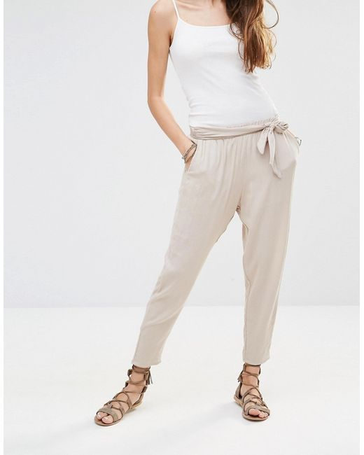 Honey punch Peg Leg Trousers With Big Bow Detail in ...