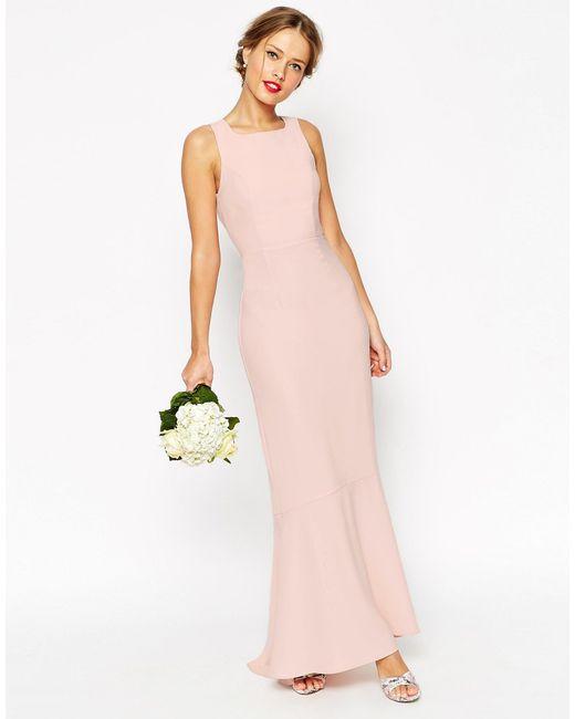 ASOS | Blue Wedding Maxi Dress With Fishtail Hem | Lyst