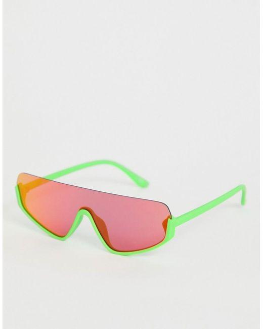 ASOS Multicolor Flat Top Visor Fashion Glasses