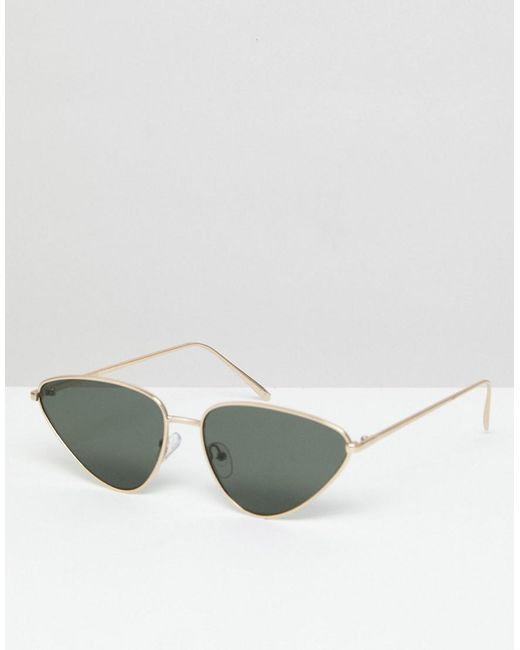 ASOS - Metallic Metal Cat Eye Sunglasses - Lyst