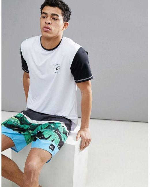 Quiksilver - Colour Blocked Surf T-shirt In White for Men - Lyst
