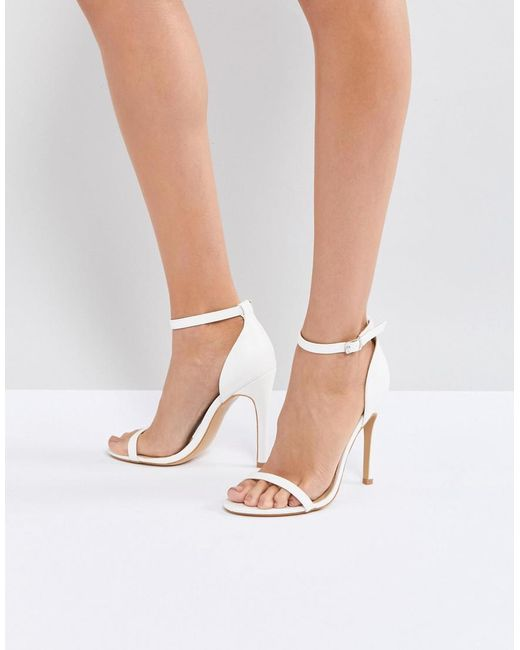 Truffle Collection - White Barely There Sandal - Lyst