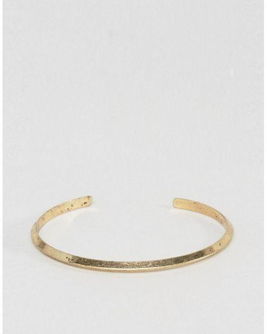 ASOS | Metallic Bangle In Burnished Gold | Lyst