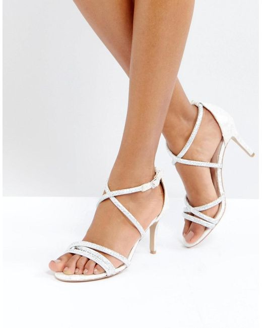 Carvela Kurt Geiger | White Gravity Embellished Heeled Sandals | Lyst