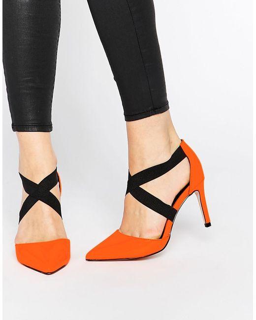 ASOS | Orange Sterling Pointed Heels | Lyst