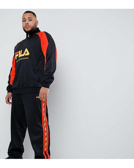 économiser jusqu'à 60% meilleur grossiste boutique officielle Pantalon de jogging en maille de polyester à bandes contrastantes - Noir  homme