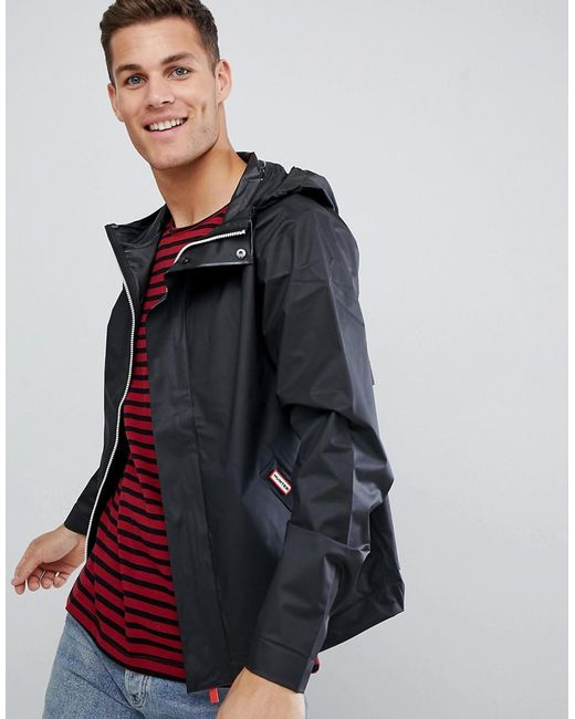 Hunter - Original Vinyl Windcheater In Black for Men - Lyst