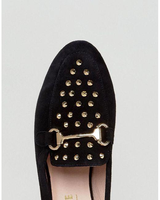 Flash Studded Loafers - Black Office sDZac