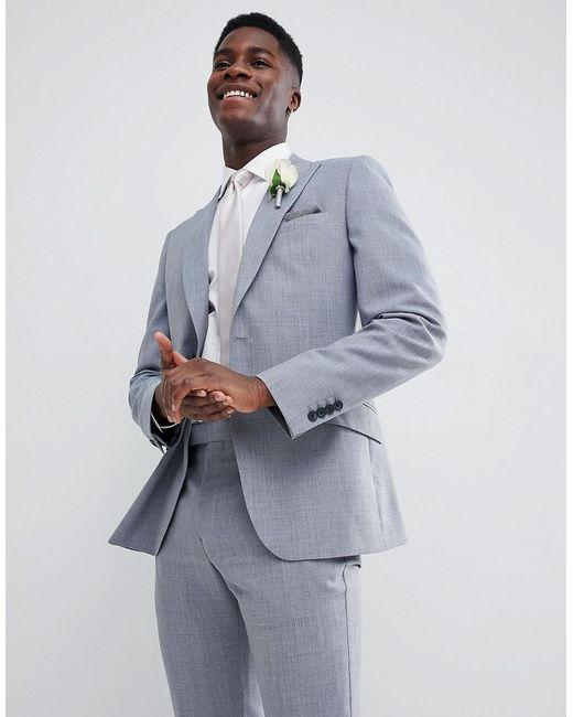 Reiss - Blue Slim Wedding Suit Jacket In Wool Mix for Men - Lyst