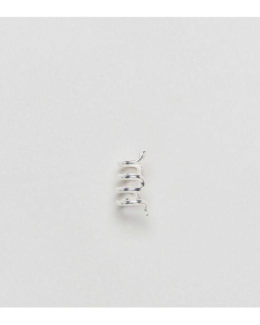ASOS | Metallic Sterling Silver Fine Snake Ear Cuff | Lyst