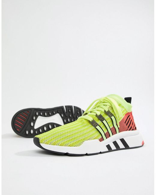 Adidas Originals - Eqt Support Mid Adv Sneakers In Green B37436 for Men -  Lyst ... 6cabb0d3ee125