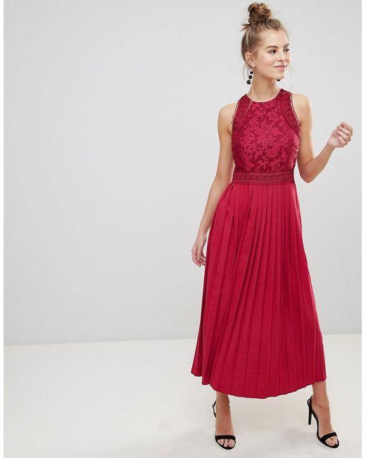 Lyst - Little Mistress Baroque Lace Dress in Pink