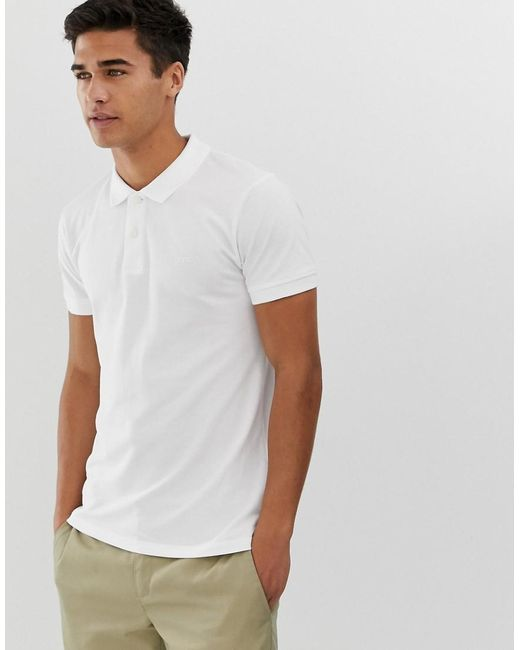 f717407ab Lyst - Esprit Organic Polo Shirt In White in White for Men