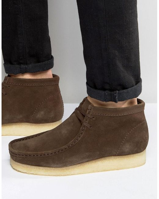 Clarks | Brown Wallabee Suede Chukka Boots for Men | Lyst