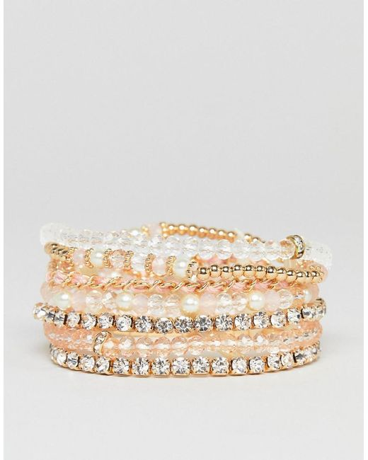 ALDO - Pink Blush Multipack Friendship Bracelets - Lyst