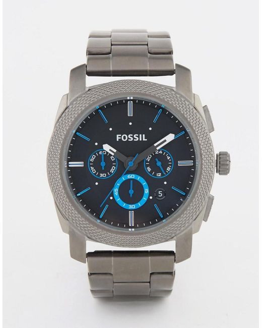 Fossil | Metallic Machine Watch In Stainless Steel for Men | Lyst