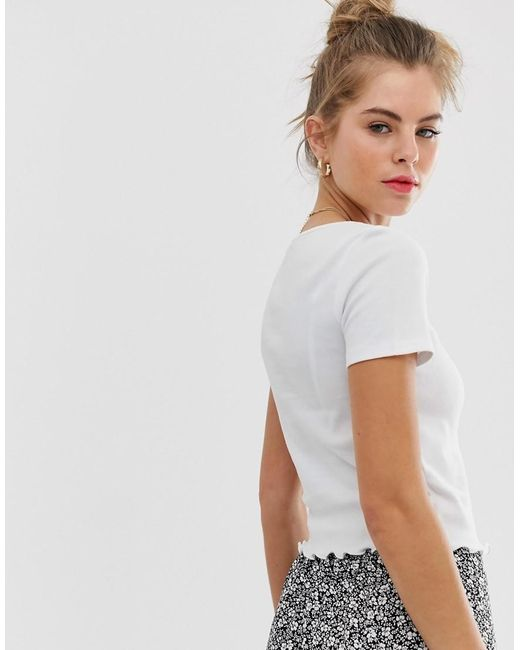 60ae39d1b New Look Happy Go Lucky Slogan Tee In White in White - Lyst