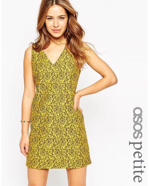 ASOS | Multicolor Petite Shift Dress In Lace | Lyst