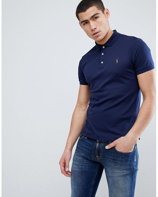 672b3d39 Polo Ralph Lauren - Blue Slim Fit Pima Soft Touch Polo Multi Player In Navy  for ...