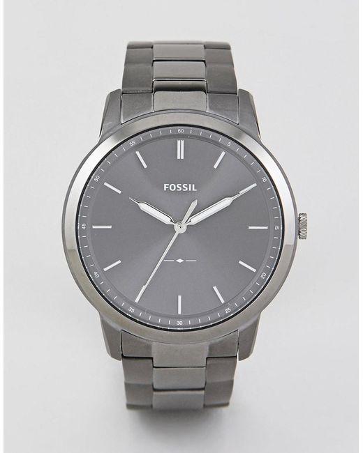 Fossil - Gray Fs5459 Minimalist Bracelet Watch 44mm for Men - Lyst