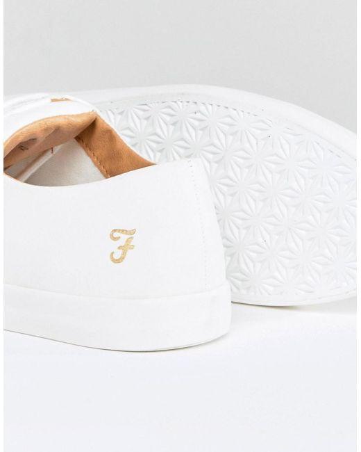 ... Farah - Kiln Logo Sneakers In White for Men - Lyst