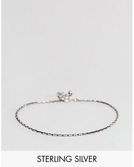 ASOS - Metallic Sterling Silver Bracelet for Men - Lyst