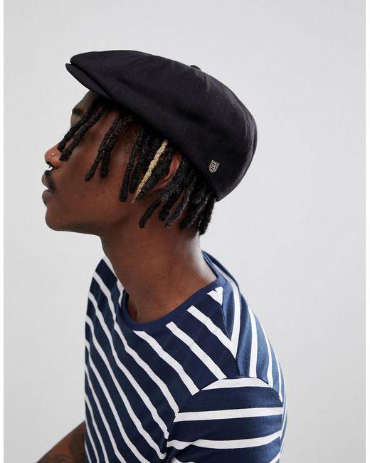e740a920 ... amazon brixton brood flat cap in black for men lyst 0a1c3 dd82a