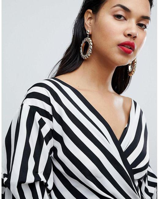 Ivyrevel | Metallic Statement Drop Hoop Earrings | Lyst