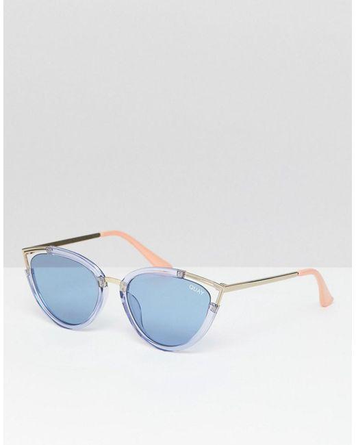 Quay - Blue Hearsay Cat Eye Sunglasses for Men - Lyst