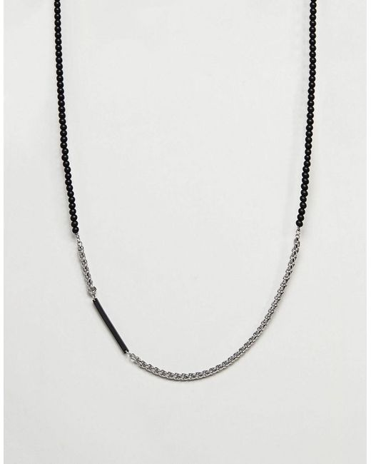 Vitaly - Metallic Helix Necklace In Stainless Steel for Men - Lyst