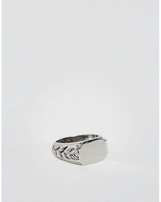 Icon Brand   Metallic Signet Ring Insilver   Lyst