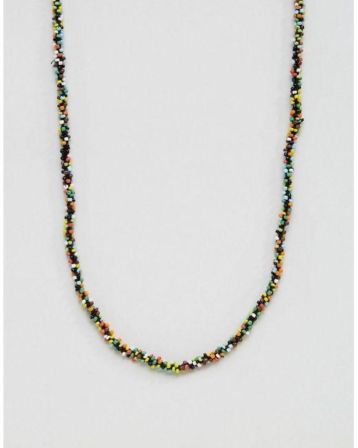 ASOS | Metallic Multicoloured Necklace for Men | Lyst